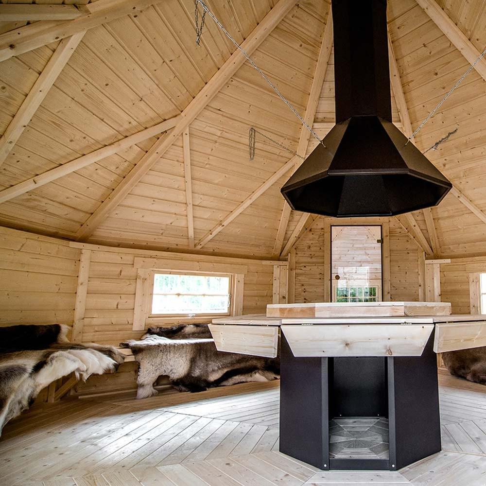 grillkota 16 5m mit angebauter sauna 4 3m scandinavic wood art. Black Bedroom Furniture Sets. Home Design Ideas